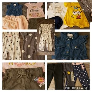 Lot of baby girl clothes size 18 months